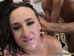 Ashley Adams Gets Her Face savagely pummeled by BBCs