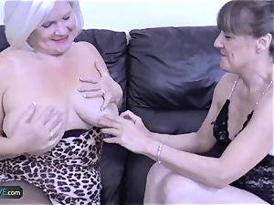 AgedLovE Mature blondie Lacey Starr hard-core nail