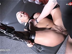 My messy hobby - super-hot blonde with jucy breasts nailed rigid