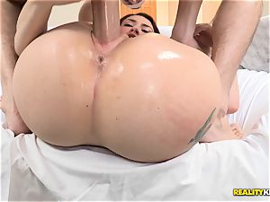 yam-sized boner going nutsack deep on adorable Mandy Muse