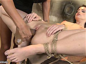 Anna Marie La Sante fake penis plow on the drum