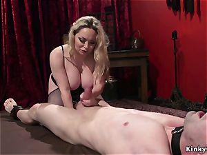 big-chested mistress ass-fuck screws male