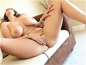 huge titted beauty Alison Tyler plays with her beaver