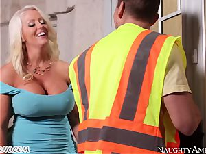 Loader rigidly plows his dissolute enormous chief