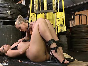 Andy brown and Kathia Nobili caboose dildoing rock-hard