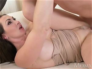 mother yam-sized knockers brunette Aussie cougar takes gigantic spear