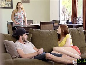 Bratty sister - observing TV, Caught pummeling My StepSister