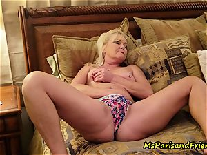 mummy Plays with Herself The Has piss urinate play Time