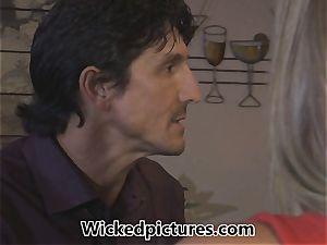 Samantha Saint picks up a boy at a bar for orgy