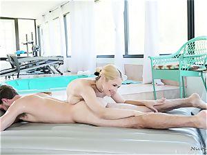 big-titted massagist In activity