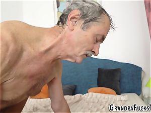 nubile poked by grandpa