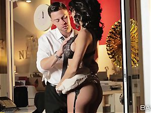 super-hot office sweetie Peta Jensen has fucky-fucky with her employees after work