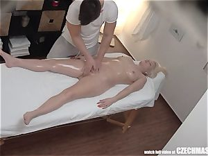 huge-chested towheaded rides masseur