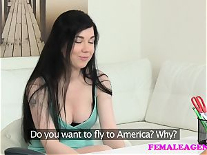 FemaleAgent chesty college girl has an astounding ejaculation