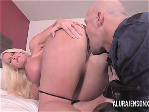 meaty orb ash-blonde Alura Jenson poking a jumpy client