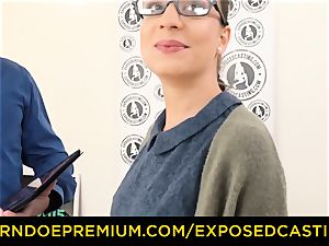 exposed audition - Nerdy first-timer black-haired ultra-cutie penetrated