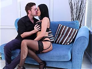 Jasmine Jae gives her spouse a welcome home surprise