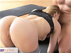 FitnessRooms muddy yoga schoolteacher cool fitness model