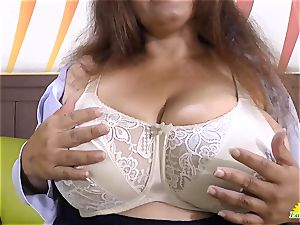 LATINCHILI Rosaly is tugging her ginormous brazilian grannie