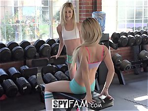 SpyFam Step brother Catches Step Sisters licking pussy