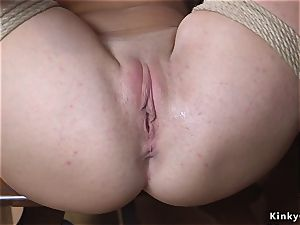 thick boobies ginger-haired tramp rump whipped