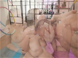 Danny slips his pipe into the ass of yoga stunner Lena Paul