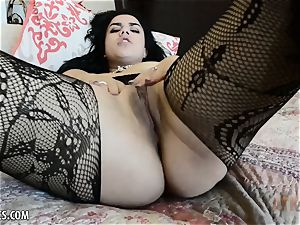super super hot Monica Sage finishes off firm for you