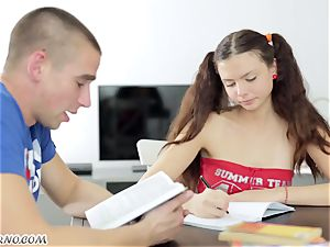 Undergraduate seduced by the appetizing Russian gal Alena