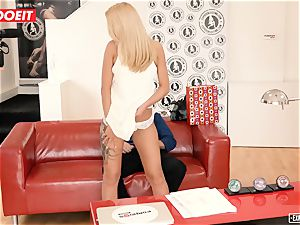 Katrin Tequila drilled hard-core on her first audition