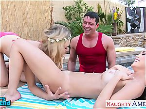hotties Dillion Harper and Natalia Starr gets facialized