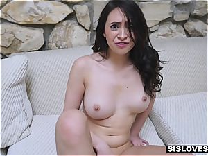 Stepsis make her desire of gargling her bro's gigantic manmeat a reality