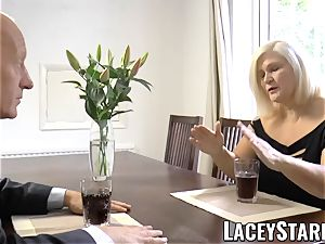 LACEYSTARR - kinkiest grandmother analled before cum shot