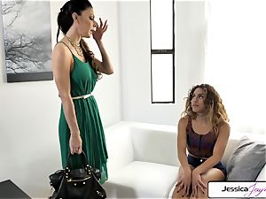 Jessica Jaymes and Liv Revamped penetrate a hefty manmeat