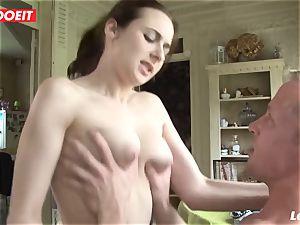 LETSDOEIT - unexperienced French enjoys screaming On meaty penises