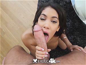 Exotic4k chesty ebony Shay Evans interracial screw