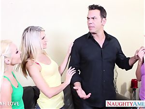 fantastic Aaliyah love porking in foursome