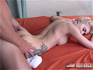 astounding Olivia Jager gets a caboose massage
