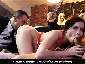 LOS CONSOLADORES - Cassie Fire powerful duo foursome