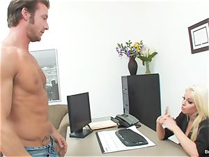 lucky guy humps boss Britney during his job interview