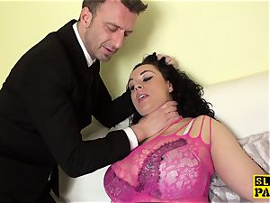 huge-chested brit gimp Anastasia Lux doggystyled