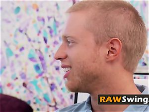 Reality swinger couples meet before fuck-fest
