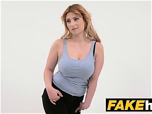faux Agent Spanish babe with phat melons get fine poking