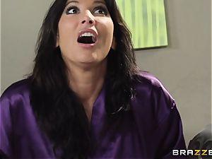 wife Lezley Zen gets vengeance on sumptuous masseuse Monique Alexander