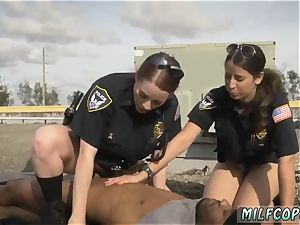 gorgeous towheaded milf rides pipe and both filled gonzo Break-In try Suspect has to fuck