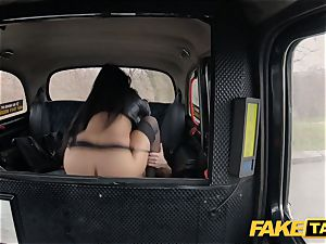 fake taxi super-steamy Latina with yam-sized jugs and bum