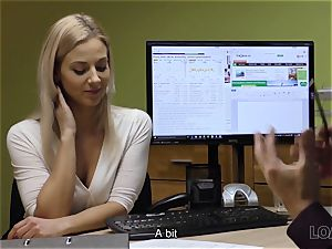 LOAN4K. cutie has to spread legs in office for solving her problems
