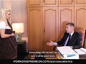 pornography ACADEMIE - Barbie Sins cunt dp and jism in jaws