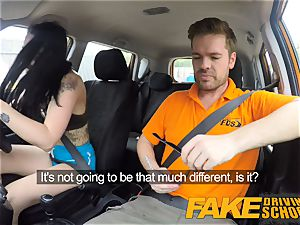 faux Driving college Gamer babes puss decorated in jism