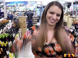 big-chested milf toys twat
