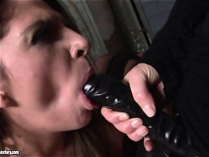 Kathia Nobili lets a sizzling nymph inhale her string on